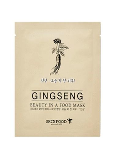 Skinfood Beayty In A Food Mask Sheet Ginseng Bakım Maskesi Renksiz